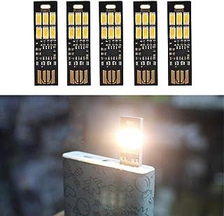 Yizhet 5 STK. USB Licht Schlüsselanhänger Super Hell 6 LED Touch Dimmer Tragbar für..