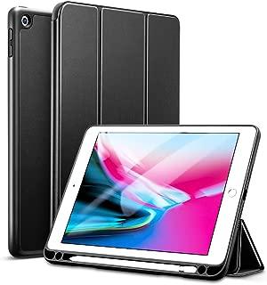 ESR 新しい iPad 9.7 2018/2017 ケース 超軽量 極薄 レザー 三つ折スタンド オートスリープ機能 スマートカバー 2017年と2018年発売の 新しい9.7インチ iPad 対応(モデル番号A1822、A1823、A1893、A1954)(ペンシル収納・ブラック)