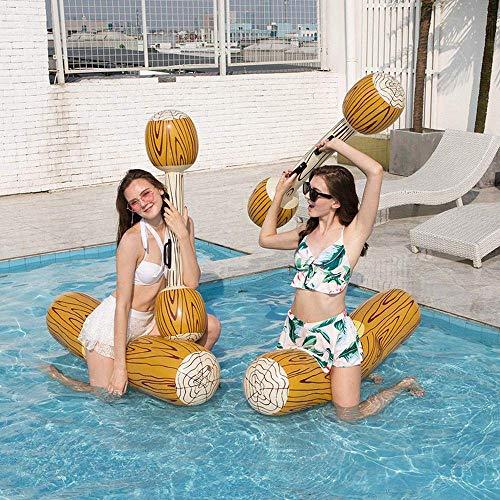 QUETAZHI PK aufblasbarer Schwimmring PVC Wasserbett Hüpfburgen -140cm Kanu aufblasbaren Schwimmbett Adult Swim Ring Reihe - Wasser Spielzeug Schwimmbad B Schwimm QU617 (Color : B)
