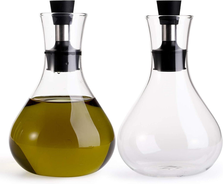 Cedilis 2 Pack 17oz Olive Oil Funnel Dispenser Vinegar Dealing full price reduction No Award Neede