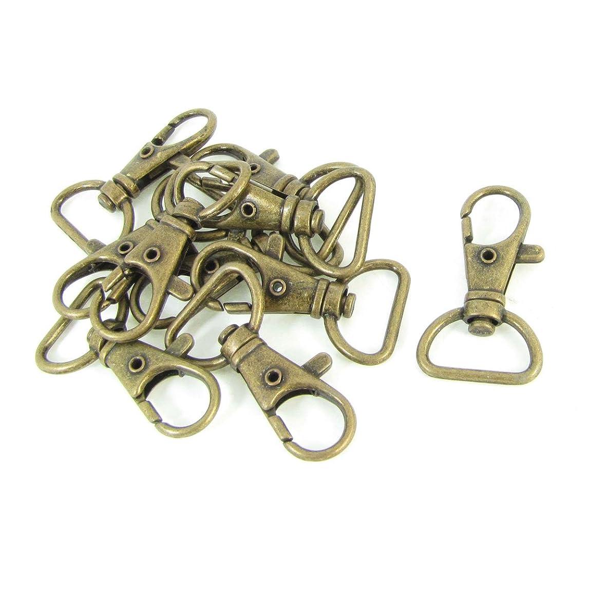 床を掃除する渦侵略uxcell ロブスタークラスプ 回転カン ハンドバッグ用スイベル ブロンズ 10個
