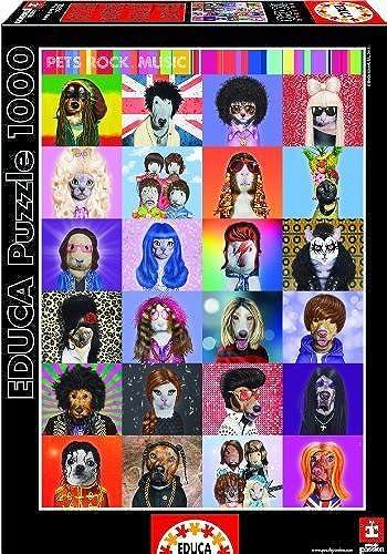 venta con alto descuento Educa Borras Borras Borras Puzzle Pets Rock Music (1000 Pieces) by Educa Borras  marca
