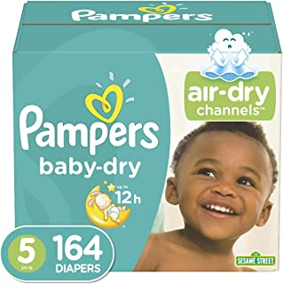 Pampers Baby-Dry Diapers Size 5 164 Count