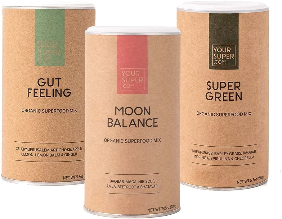Your Super Best Seller 3 Pack Bundle - Includes Gut Feeling, Moon Balance and Super Green Mixes