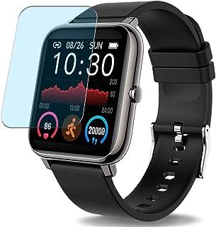 Vaxson 3-pack anti-blått ljus skärmskydd, kompatibel med Donerton P22 P25 smartwatch smartklocka, TPU skyddsfilm skydd kli...