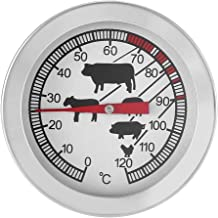 Termómetro de Barbacoa, Termómetro de Parrilla de Horno de Acero Inoxidable para Medir la Temperatura de los Alimentos