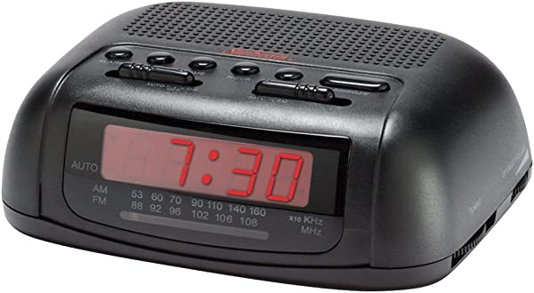 Sunbeam 89014 AM FM Clock Radio Black