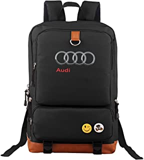 Audi Backpack Outdoor Hiking Daypacks Laptop Backpacks Vintage School Bag for Men Women Travel Rucksack Large Capacity College Bookbag