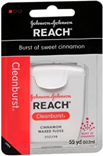 REACH Cleanburst Waxed Floss Cinnamon 55 Yards (Pack of 8)