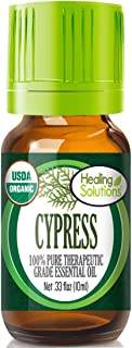 Organic Cypress Essential Oil (100% Pure - USDA Certified Organic) Best Therapeutic Grade Essential Oil - 10ml