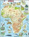 Larsen A22 Mapa físico de África, edición en Inglés, Puzzle de Marco con 63 Piezas