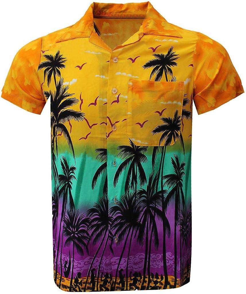 Polo Shirt for Men, F_Gotal Men's T-Shirts Fashion Summer Short Sleeve Hawaii Quick Dry Casual Beach Shirts Blouse Tops