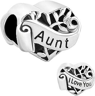 Heart Love Family Charm Wife Mom Daughter Sister Grandma Aunt Niece Beads