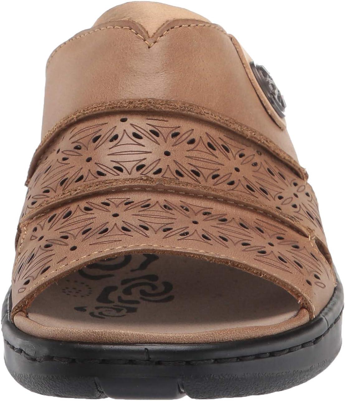 Propet Women's Gertie Slide Sandal, Beige, 10 Wide