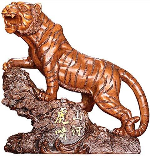 LULUDP-Decoración La decoración del hogar artesanía Chinese ornaments chino del zodiaco del tigre esculturas estatua y figuras de decoración del hogar Decoración del estreno de felicitación regalo Man