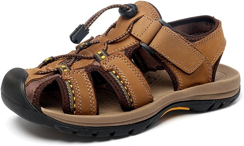 schuheDQ Herren Ledersandalen frei atmen Freizeit Outdoor Sports Beach Schuhe Rutschfest atmungsaktiv  | Online Shop