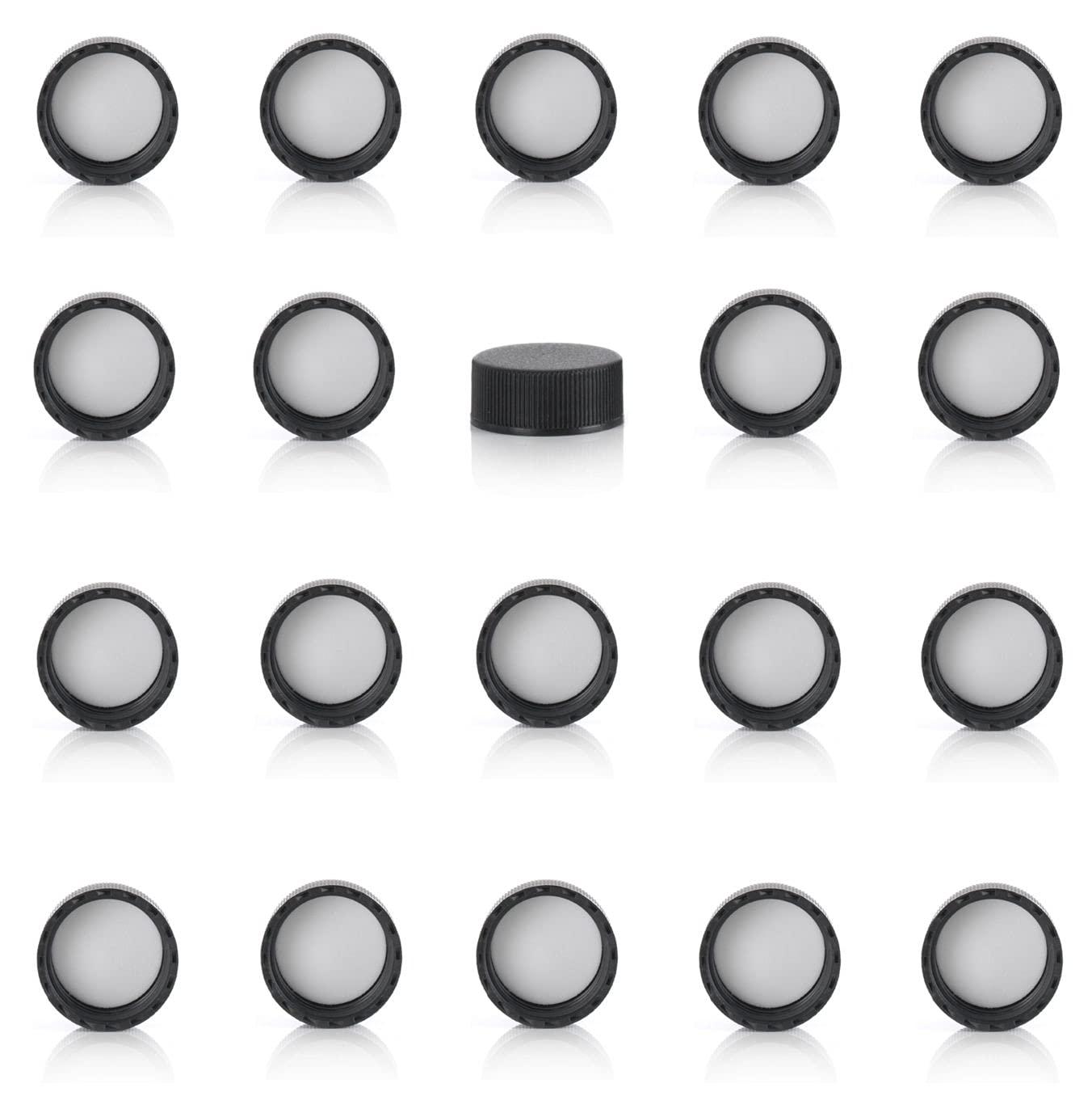 Magnakoys Max 52% OFF Black Manufacturer OFFicial shop 20-400 Continuous Thread for Vials Caps Closure
