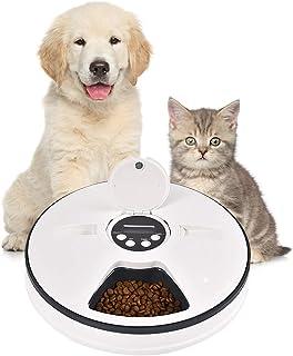 億騰 ペットフィーダー 猫犬用 6食分 6 x 128ml 自動給餌器 24時間タイマーセット可能 ペット食器 操作簡単 留守も安心 自動えさやり ドライ・ウェットフード対応 食事 健康管理 ネコ いぬ エサやり 猫/犬/うさぎなど対応 ペットフードオートフィーダー