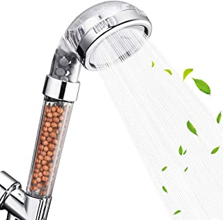 Nosame Shower Head, Filter Filtration High Pressure Water Saving 3 Mode Function Spray Handheld Showerheads for Dry Skin &...