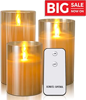 Kithouse LED Flameless Candles Battery Operated Candles Flickering Electric with Remote Control and Cycling 24-Hour Timers - 4