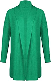 Womens Jacket Shawl Collar Open Front Cardigan Solid Coat Knit Sweater Jacket