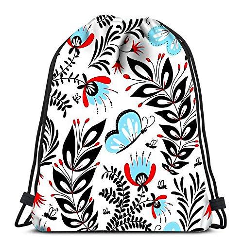 Drawstring Bags Backpack Gull Flight Bird Seabird Sea Travel Gym Bags Rucksack Shoulder Bags Printed