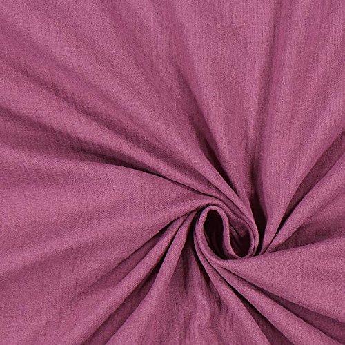 Fabulous Fabrics Musselin violett, Uni, 130cm breit – Musselin zum Nähen von Kinderbekleidung, Babybekleidung und Blusen – Meterware erhältlich ab 0,5 m