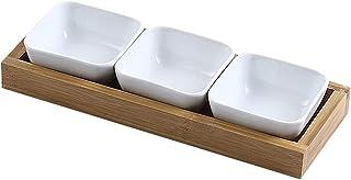 Voorgerechtborden 3.3 Oz Sojasaus Dompelkommen Bijgerecht Platen voor Snack Sushi Fruit Voorgerecht Dessert Keramische Di...