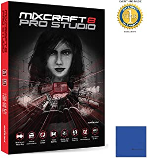 Acoustica Mixcraft 8 Pro Studio Music Production Software Retail with 1 Year Free Extended Waranty