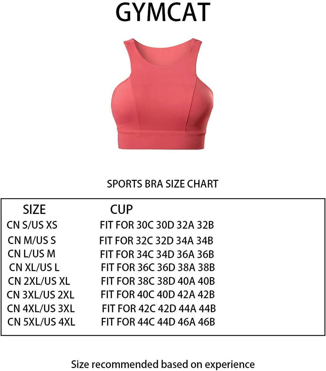 GYMCAT Sports Bras for Women Yoga Workout Bra Running Gym Activewear Tank Vest Type