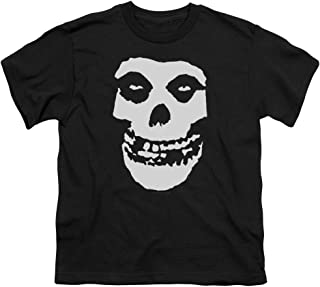 Misfits Punk Rock Band Classic Fiend Skull White Big Boys Youth T-Shirt