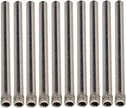 BQLZR 4mm Diamond Coated Hole Saw Core Drill Bits Glass Tile Marble Granite Pack Of 10