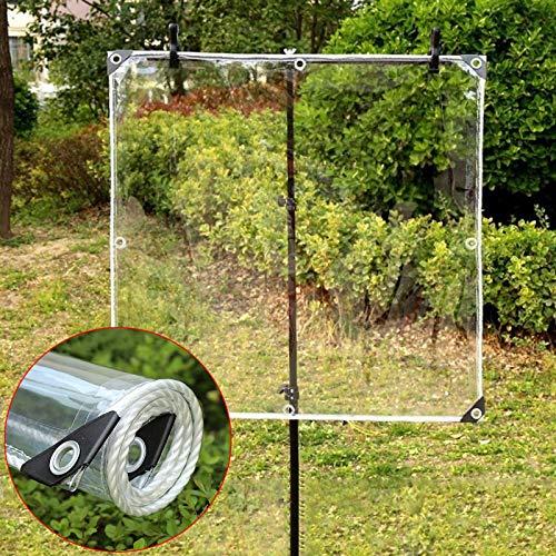 Lona Transparente Impermeable con Ojales,Material de PVC Plegable,Toldo de Tarea Pesada Claro,para Coverup Plantas de Jardines,Invernaderos, Gazebo Cubierta Protectora,400g/? (1.6x6m(5.2*19.7ft))
