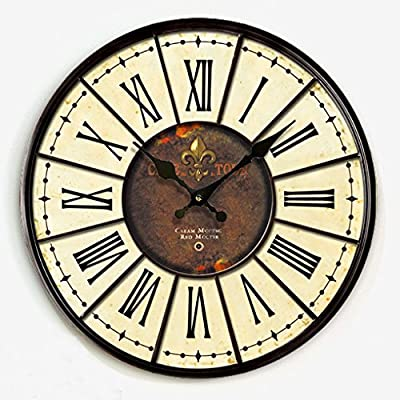 Y-Hui The Living Room Retro Mute Wall Clock Clock On The Bedroom Table Mediterranean
