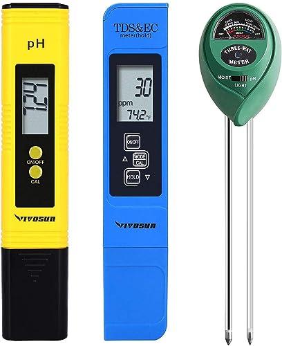 new arrival VIVOSUN discount Digital PH Meter, TDS outlet sale and EC Pen for Water, Soil Moisture Tester outlet online sale