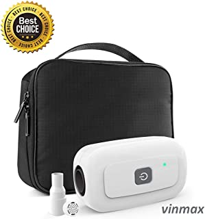 2019 New Updated vinmax CPAP Cleaner and Sanitizer (No More Bad Smell of Ozone) for CPAP Mask and Equipment for Home and Travel -Includes USB Adapter, Heated Hose Adapter & Sealed Bag