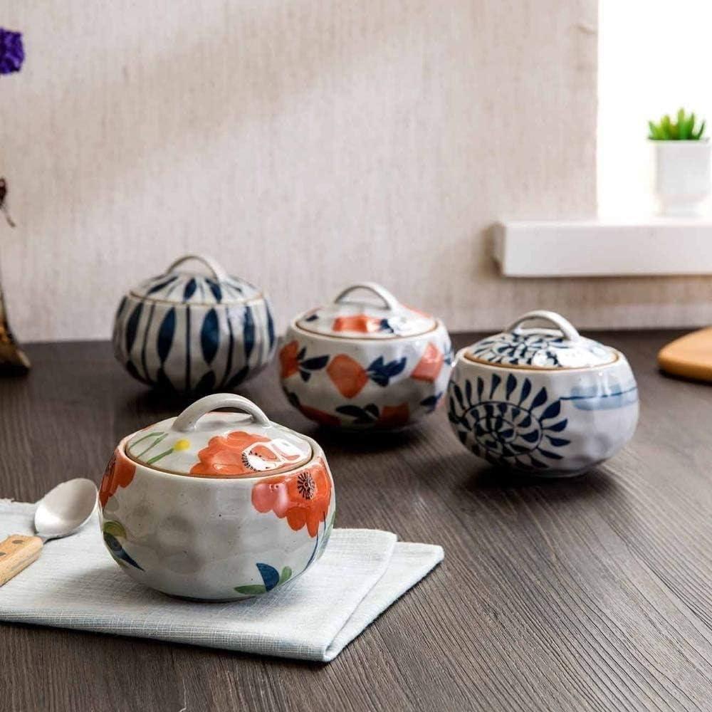 MYXMY Vaisselle en céramique soupe Marmite Pot à haute température Ragoût Mini Céramique Casserole Egg Lait Poêle Cuisine vapeur Pots (Color : A) C