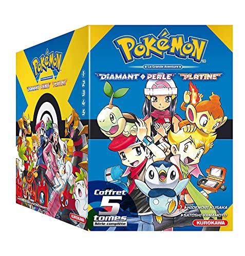 COFFRET - Pokémon Diamant Perle / Platine - tomes 1-2-3-4-5 + Guide Pokémon (1)