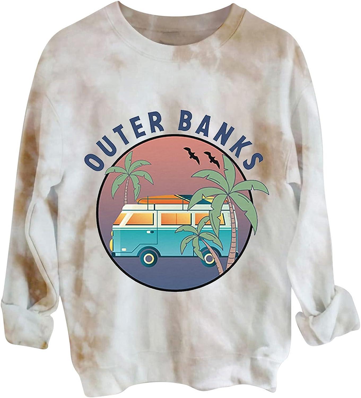 Ranking TOP11 Tie Dye Omaha Mall Shirt Women Casual Halloween Long Sweatshirt Sleeve Crew