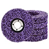 """Rust Remover Wheel Remove Paint and Oxidation Poly Strip Wheel Disc Abrasive Angle Grinding Wheel (5Pack - 4"""" x 60#)"""