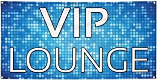Vinyl Banner Sign VIP Lounge Lifestyle VIP Lounge Outdoor Marketing Advertising Blue - 12inx30in (Multiple Sizes Available), 4 Grommets, One Banner