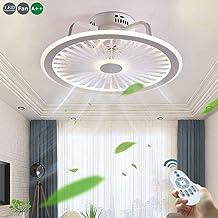 Plafondventilator met verlichting 56W LED-plafondlamp Dimbare afstandsbediening Ultrastille blik Timing-ventilator Kroonluchter Moderne woonkamer Slaapkamer Moderne ventilatorlamp, wit,Gray