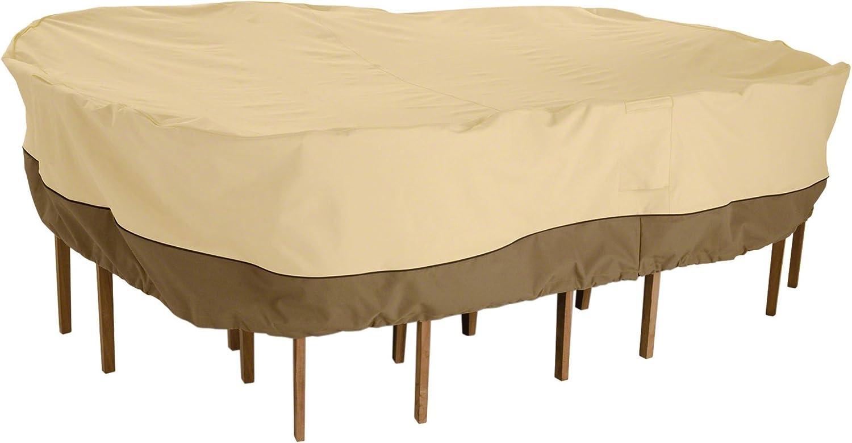 Classic Accessories Veranda Patio Table 67% OFF of fixed price Max 61% OFF 84''W 130''L Pebble x