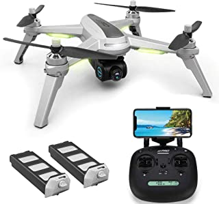 GPS Drone with 1080P HD Camera Live Video, JJRC X5 5G WiFi FPV Foldable RC Quadcopter with Brushless Motor, Follow me, Smart Return Home, Point of Interest, Folding Rc Drone Helicopter for Adults