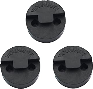 3 Pack Rubber Violin Practice Mute, Round Tourte Style Mute for Violin, Ultra Practice Silencer, Black