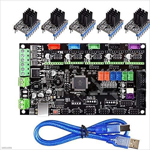 Apricot blossom Stampante MKS Gen V1.4 3D di Controllo Scheda TMC2130 / TMC2208 / DRV8825 / A4988 Driver Reprap 2560 Mega R3 Rampe 1.4 1.5 1.6 Motherboard (Size : Only MKS Gen V1.4)