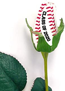 Baseball Rose with Graduation Year