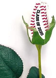 Baseball Rose with Graduation Year