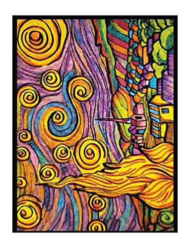 "Colorvelvet 47x 35cm ""Van Gogh notte stellata disegno colorare System (Large, multicolore)"
