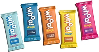 WHOA DOUGH Cookie Dough Bar | Variety Pack | Gluten Free, Keto Friendly Snack Bars, Dairy Free, Non GMO Healthy Snacks for Kids and Adults | 7g of Plant Based Protein | 10 Bars